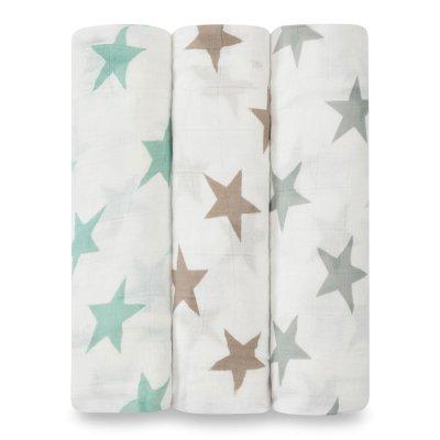 Lot de 3 maxi lange bébé milky way étoiles pastel Aden + anais