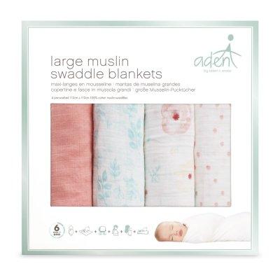 Lot de 4 maxi langes Aden by aden+anais