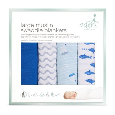 Lot de 4 maxi-langes making waves Aden by aden+anais