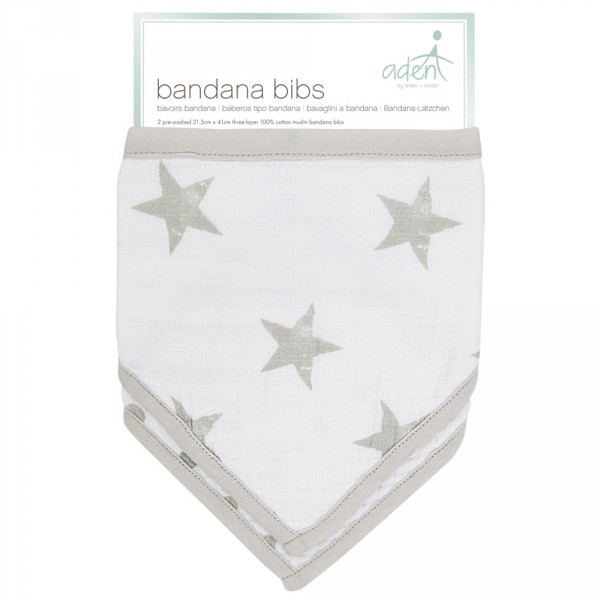 Lot de 2 bavoirs bandana dusty Aden by aden+anais