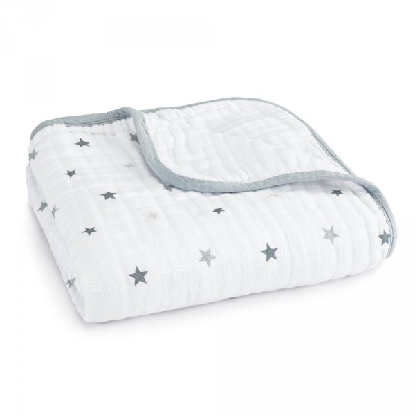 Couverture bébé étoiles grises Aden + anais