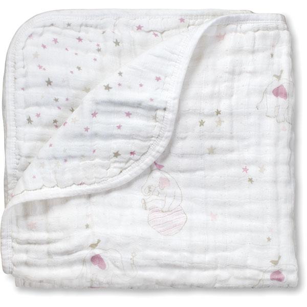 Couverture bébé éléphant rose Aden + anais