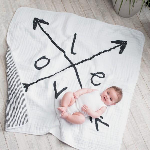 Couverture lit bébé lovestruck Aden + anais