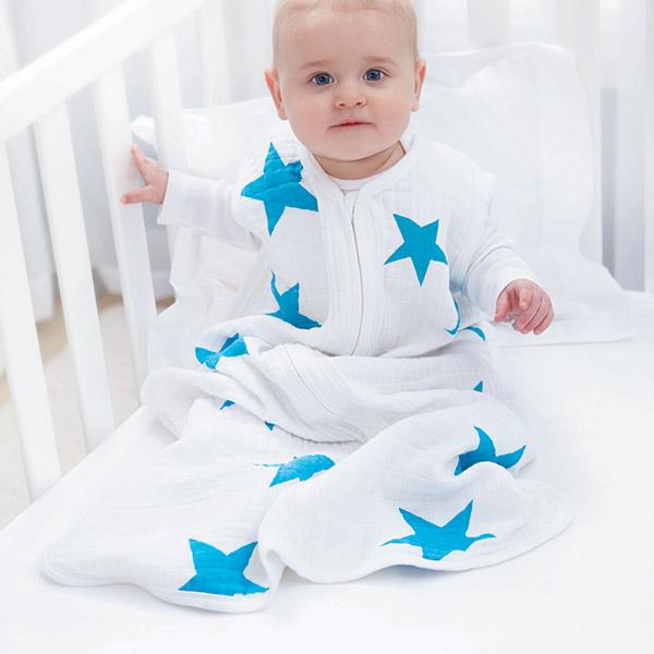 Gigoteuse été étoiles bleues fluo 18-24 mois Aden + anais