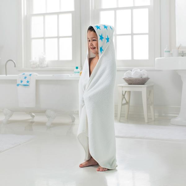 Sortie de bain bébé étoiles bleues fluo Aden + anais