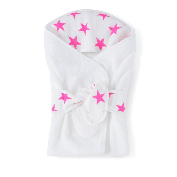 Cape de bain étoiles roses fluos Aden + anais