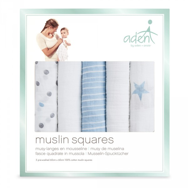 Lot de 5 petits langes dapper Aden by aden+anais
