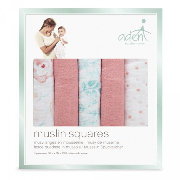 Lot de 5 petits langes full bloom Aden by aden+anais