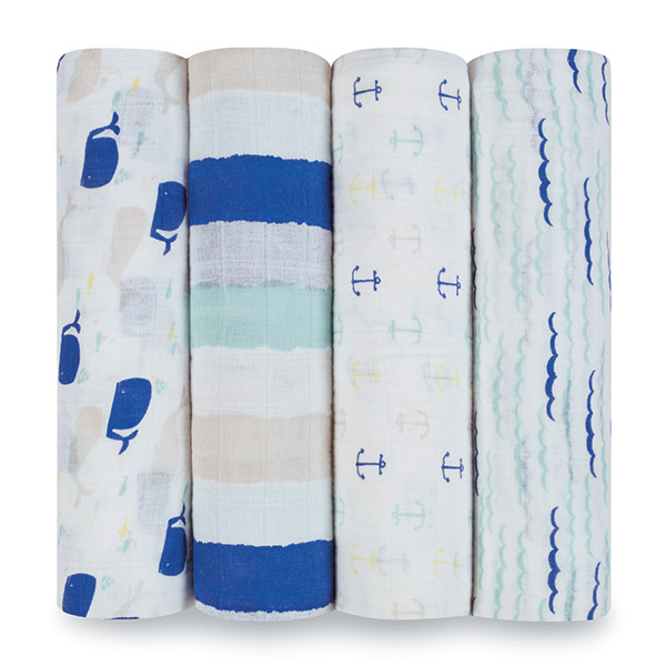 Lot de 4 maxi-langes high seas Aden + anais