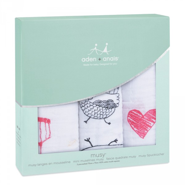 Lot de 3 petits langes lovebrid Aden + anais
