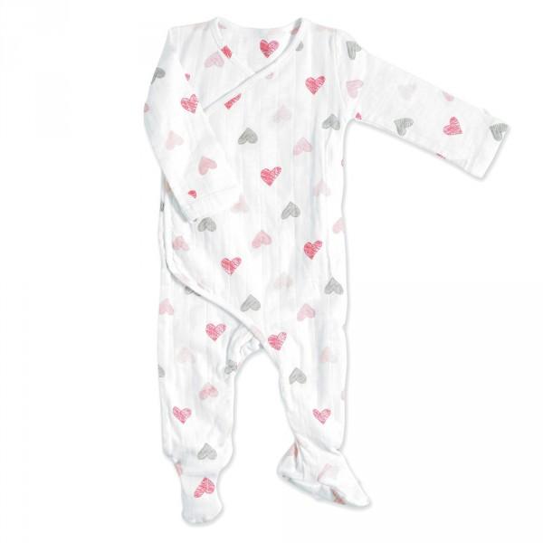 Pyjama manches longues sketch hearts Aden + anais