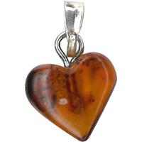 Pendentif pour maman coeur ambre de la baltique