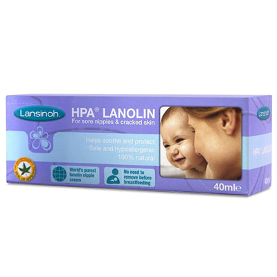 Crème lansinoh pour mamelons sensibles 40ml Lansinoh
