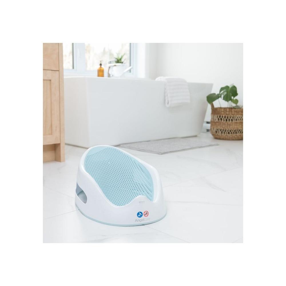 transat de bain b 233 b 233 blanc bleu de angelcare chez naturab 233 b 233