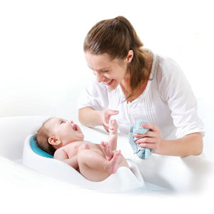 Angelcare Transat de bain bébé blanc/bleu