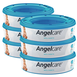 Angelcare Lot de 6 recharges pour poubelle à couches angelcare