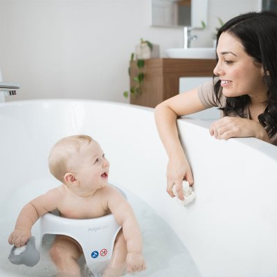 Anneau de bain bébé blanc/gris Angelcare