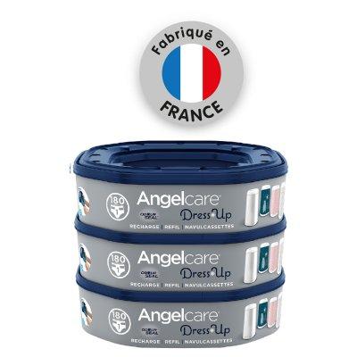 3 recharges octogonales pour poubelle dress up Angelcare