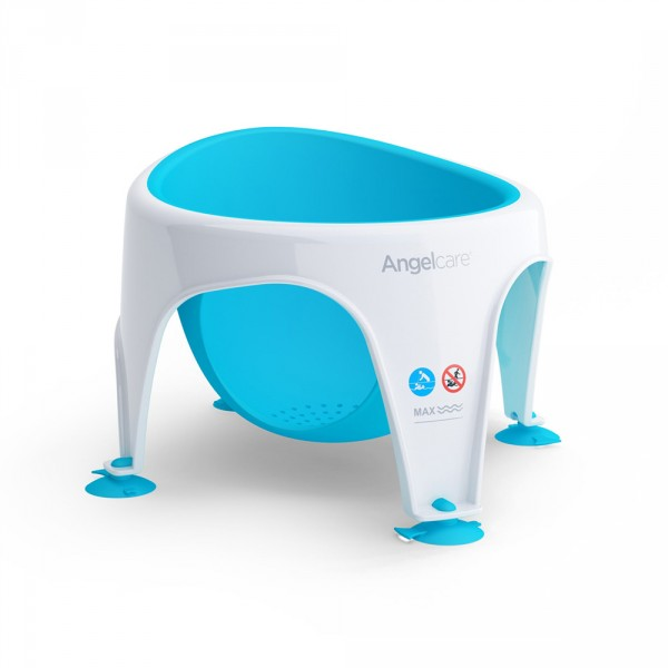 Anneau de bain bébé blanc/bleu Angelcare