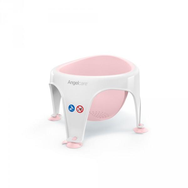 Anneau de bain bébé blanc/rose Angelcare