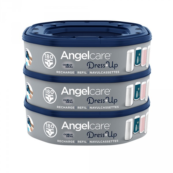 3 recharges octogonales pour poubelle dress up Angelcare