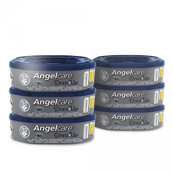 6 recharges octogonales pour poubelle dress up Angelcare