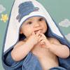 Sortie de bain bébé guss et victor bleu Noukies