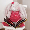 Sortie de bain bébé framboise anna et pili Noukies