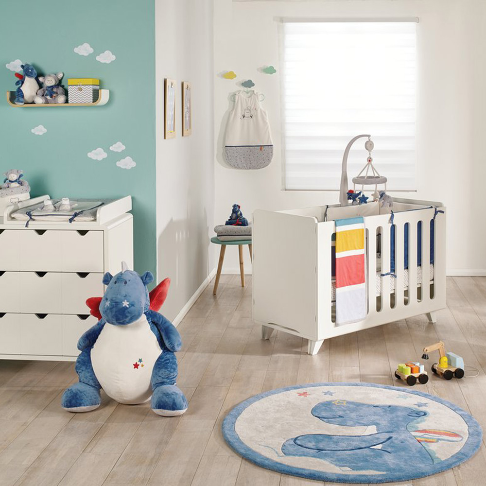 tapis de chambre b b en coton guss et victor de noukies. Black Bedroom Furniture Sets. Home Design Ideas