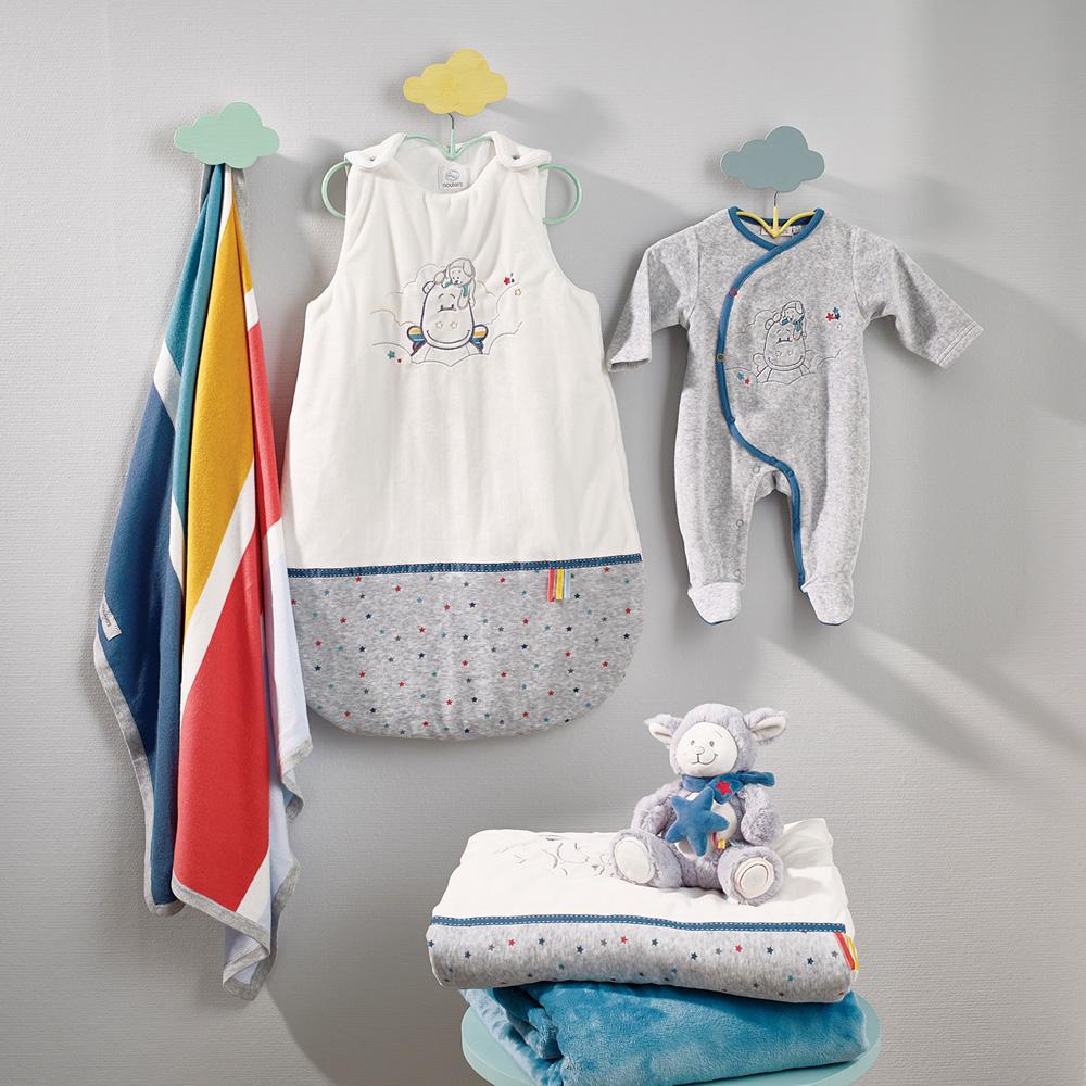 Couverture de taille id ale pour porter b b d s sa naissance de noukies - Temperature ideale pour chambre bebe ...