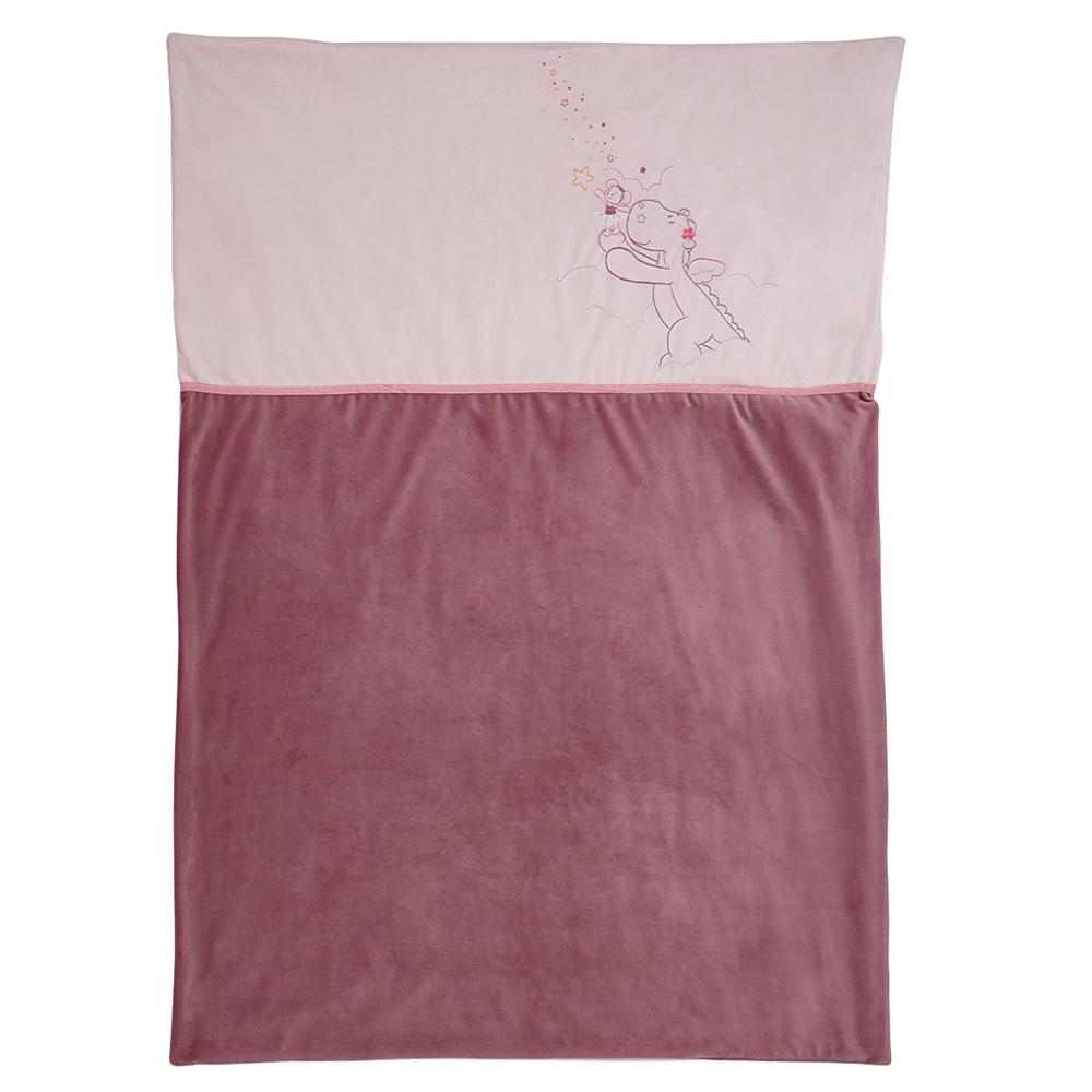 couverture veloudoux 100 x 140 cm mia et victoria de noukies chez naturab b. Black Bedroom Furniture Sets. Home Design Ideas