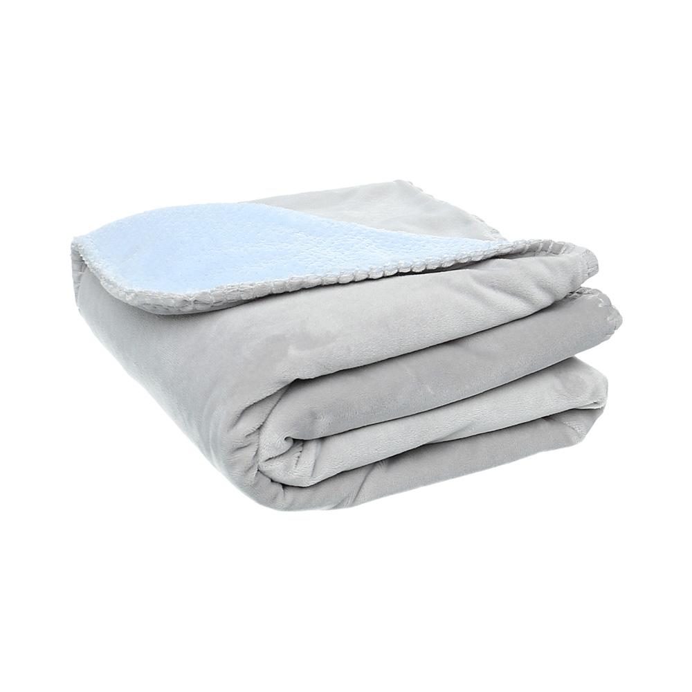 couverture groloudoux 100 x 140 cm bleu cocon gris perle de noukies en vente chez cdm. Black Bedroom Furniture Sets. Home Design Ideas