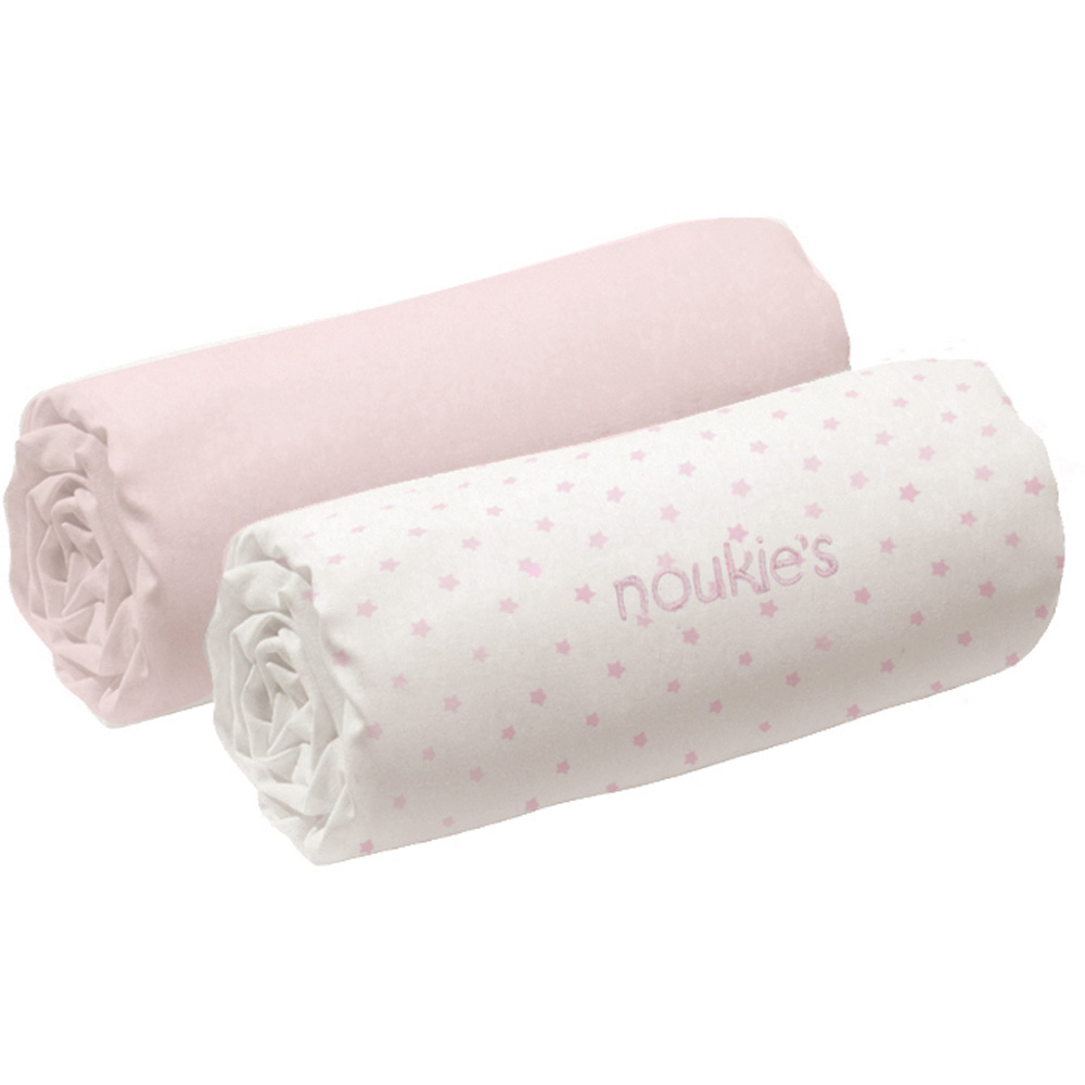 Lot de 2 draps housses b b 70x140 cm rose cocon de for Drap housse 70x140 carrefour