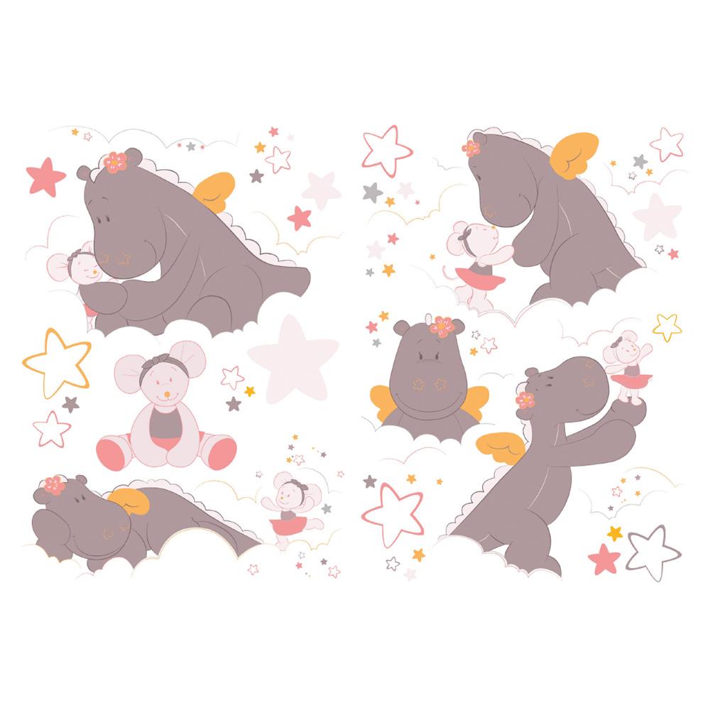 Stickers chambre b b mia et victoria de noukies sur allob b for Chambre bebe noukies