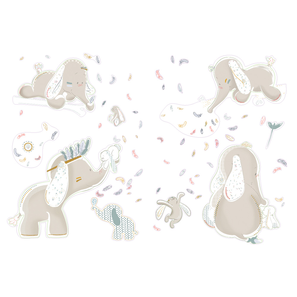 Stickers d co bao et wapi de noukies sur allob b for Chambre bebe noukies