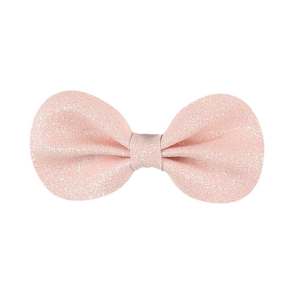 accessoire pour cheveux pince gros noeud rose de noukies sur allob b. Black Bedroom Furniture Sets. Home Design Ideas