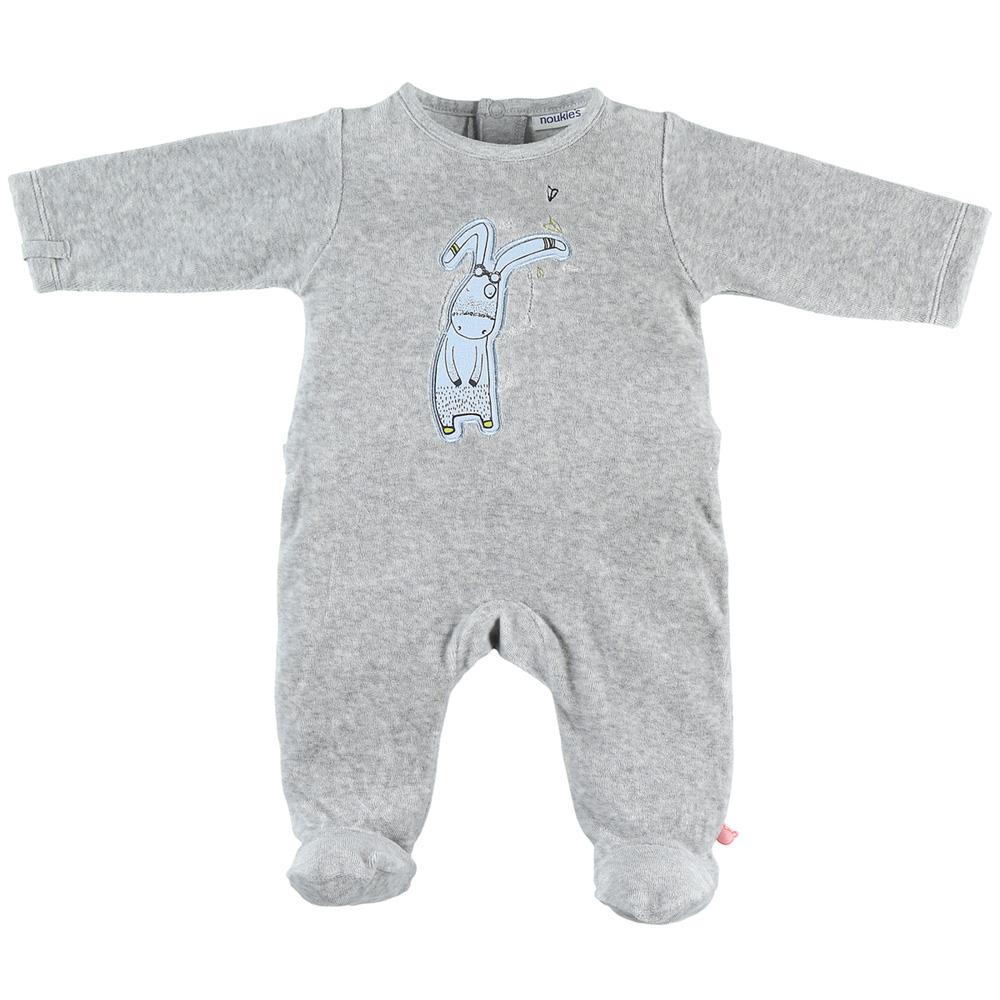 1a44c765fdc8c Pyjama dors bien velours smart boy gris clair Noukies. SuivantePrécédente