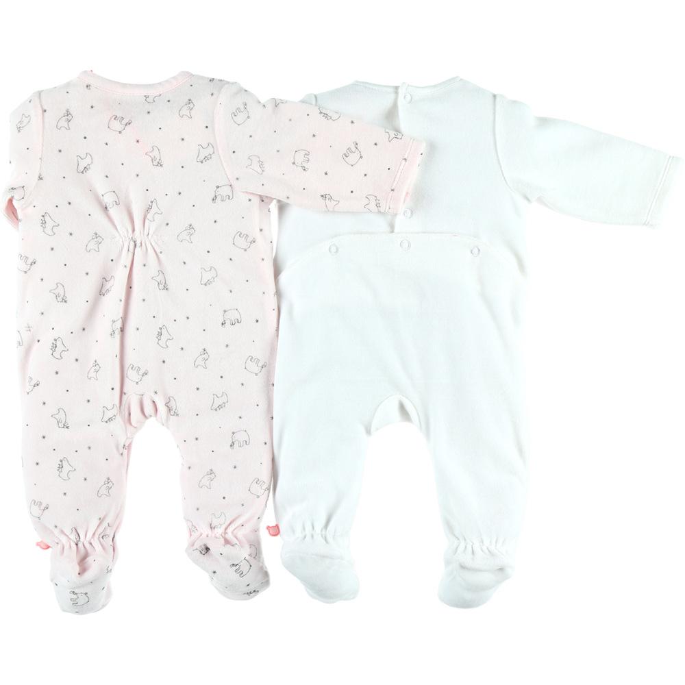6b827654c67fb Lot de 2 pyjamas velours cocon rose et blanc Noukies. SuivantePrécédente