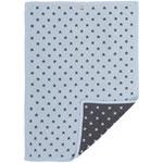 Couverture bébé jacquard gris foncé / bleu pas cher