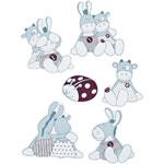 Stickers deco paquito et lolita de Noukies
