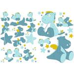 Stickers déco victor et lucien de Noukies