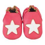 Chaussons bébé en cuir étoile cocon macaron