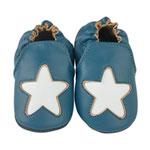 Chaussons bébé en cuir étoile cocon océan