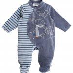 Pyjama dors bien velours smart boy rayé océan