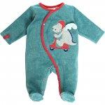 Pyjama dors bien velours peps boy turquoise