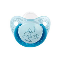 Sucette silicone turquoise paco et nouky 18 mois et +