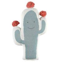 Coussin cactus jacquard bio moris et sacha