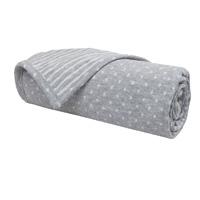 Couverture en jersey gris clair 75 x 100 cm