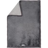 Couverture bébé groloudoux 100 x 140 cm gris foncé / gris clair