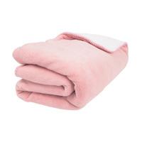 Couverture bébé groloudoux 100 x 140 cm macaron / rose cocon